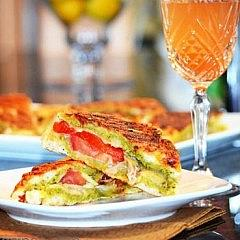 Chicken and Roasted Red Pepper Panini with