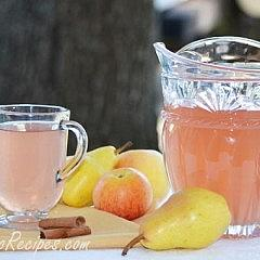 Apple Pear with Cinnamon Stick Kompot Reci