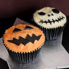 Halloween Cupcakes: Scary Faces