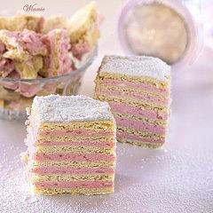 Layer Cake with Strawberry Cream Filling