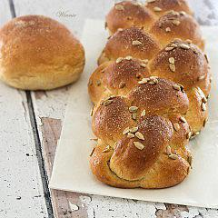 Two Poolish-Dough Challahs and Rolls
