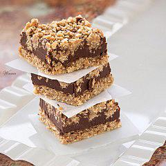 Chocolate, Peanut-butter Oat Bars