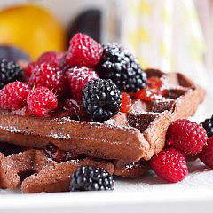 Chocolate whole wheat waffles